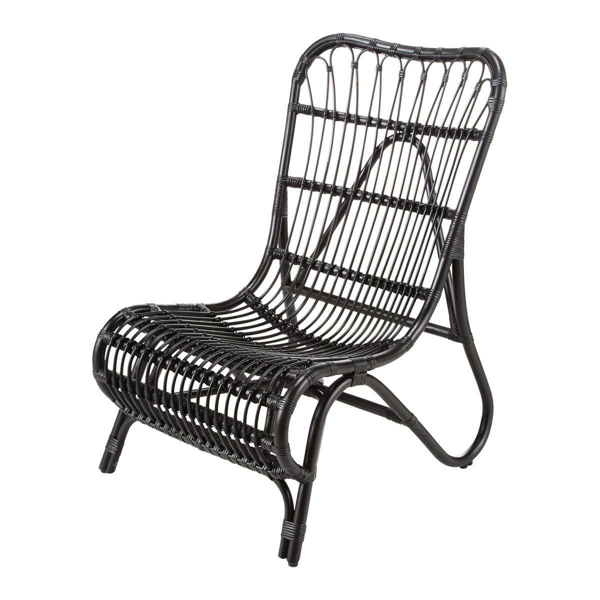 Maison Du Monde Fauteuil Rotin fauteuil rotin noir louisiane | home | outdoor chairs