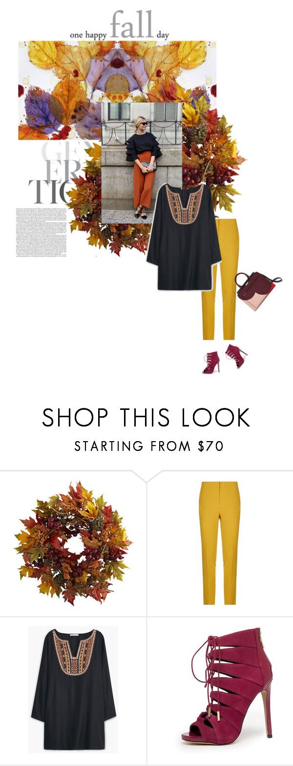 """""""Herbstlicht"""" by lagomera ❤ liked on Polyvore featuring Nearly Natural, Pinko, MANGO, Bebe, women's clothing, women's fashion, women, female, woman and misses"""