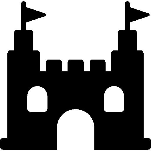 Castle Black Shape Free Vector Icons Designed By Simpleicon Vector Icon Design Black Castle Icon Design