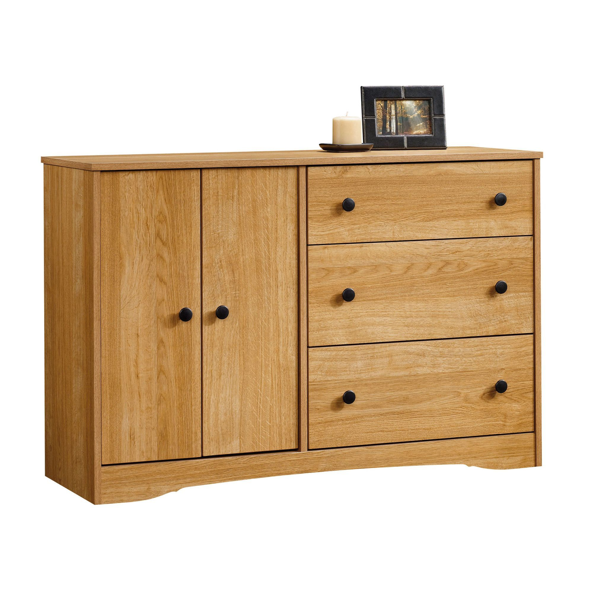 Beginnings drawer combo dresser in highland oak products