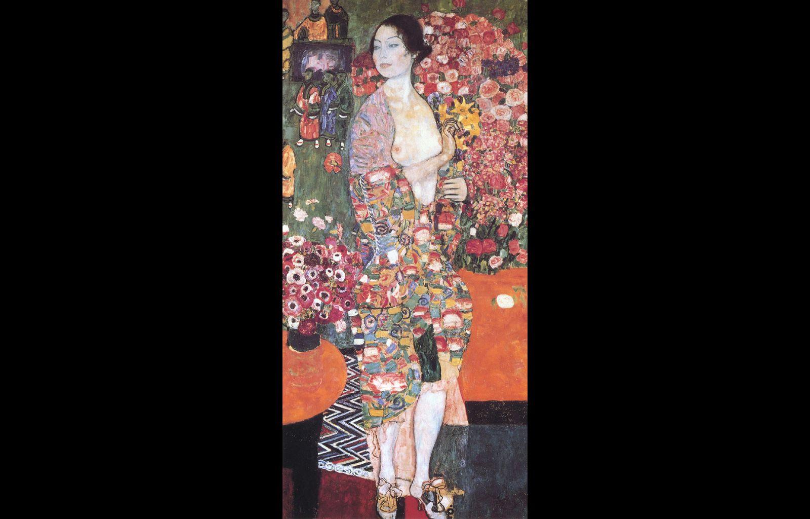 GUSTAV KLIMT The Dancer Large Framed Canvas Wall Art