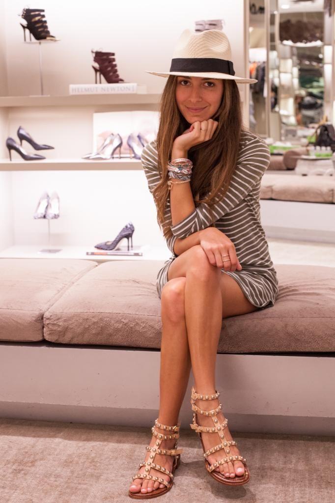 7dc366f1ce69e3 Arielle Nachmani in the Sam Edelman Soho store wearing the Eavan sandals   SamsGirls