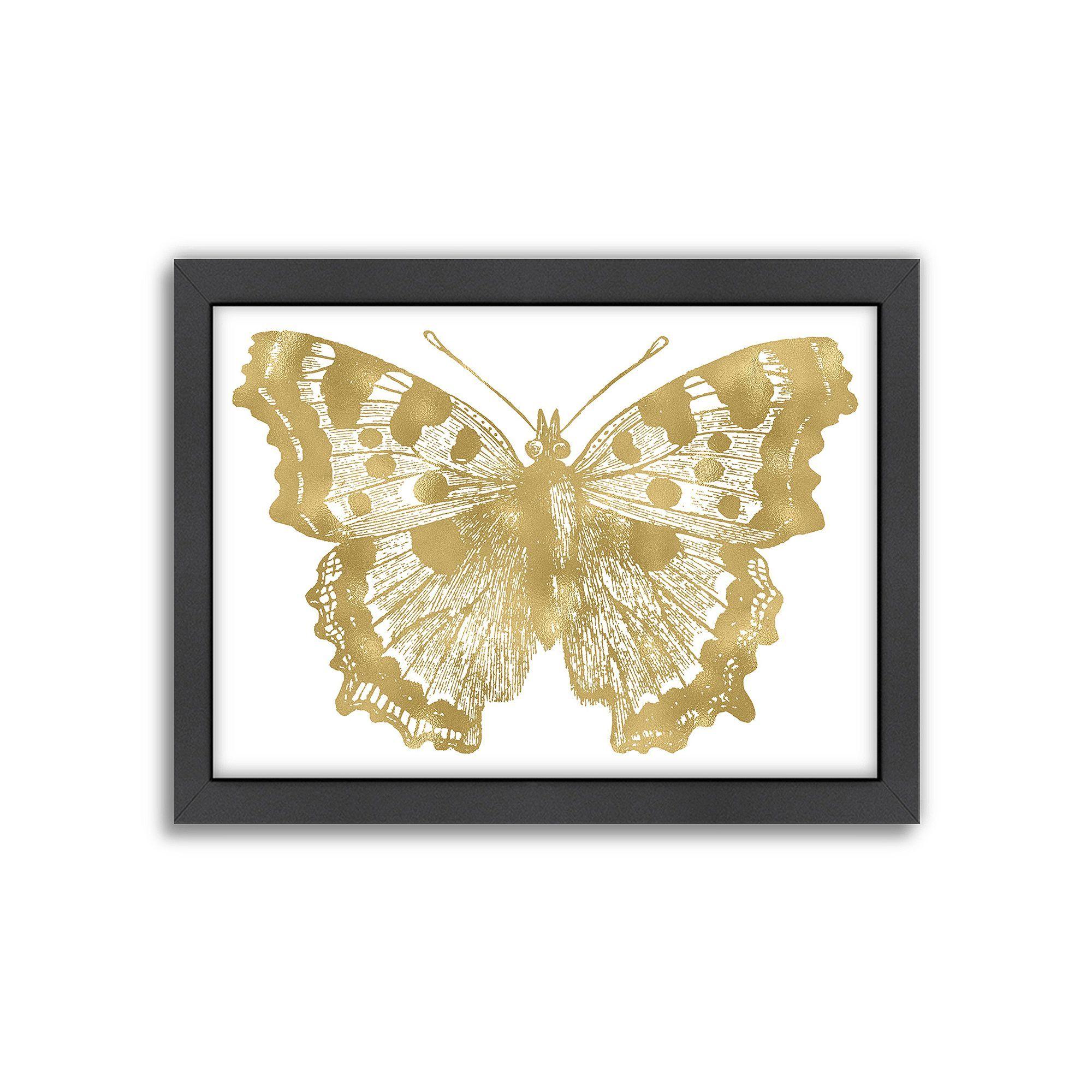Americanflat Butterfly 1 Framed Wall Art, White   Framed wall art ...