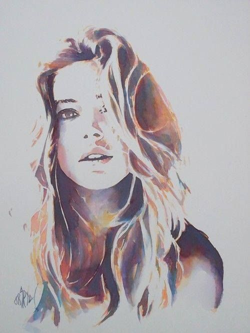 Olivier Bartoli Watercolor Watercolor Portraits Portrait