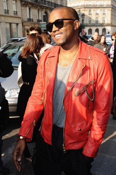 Kanye West In Daddy B Leather Jacket Men Style Red Leather Jacket Men Kanye West