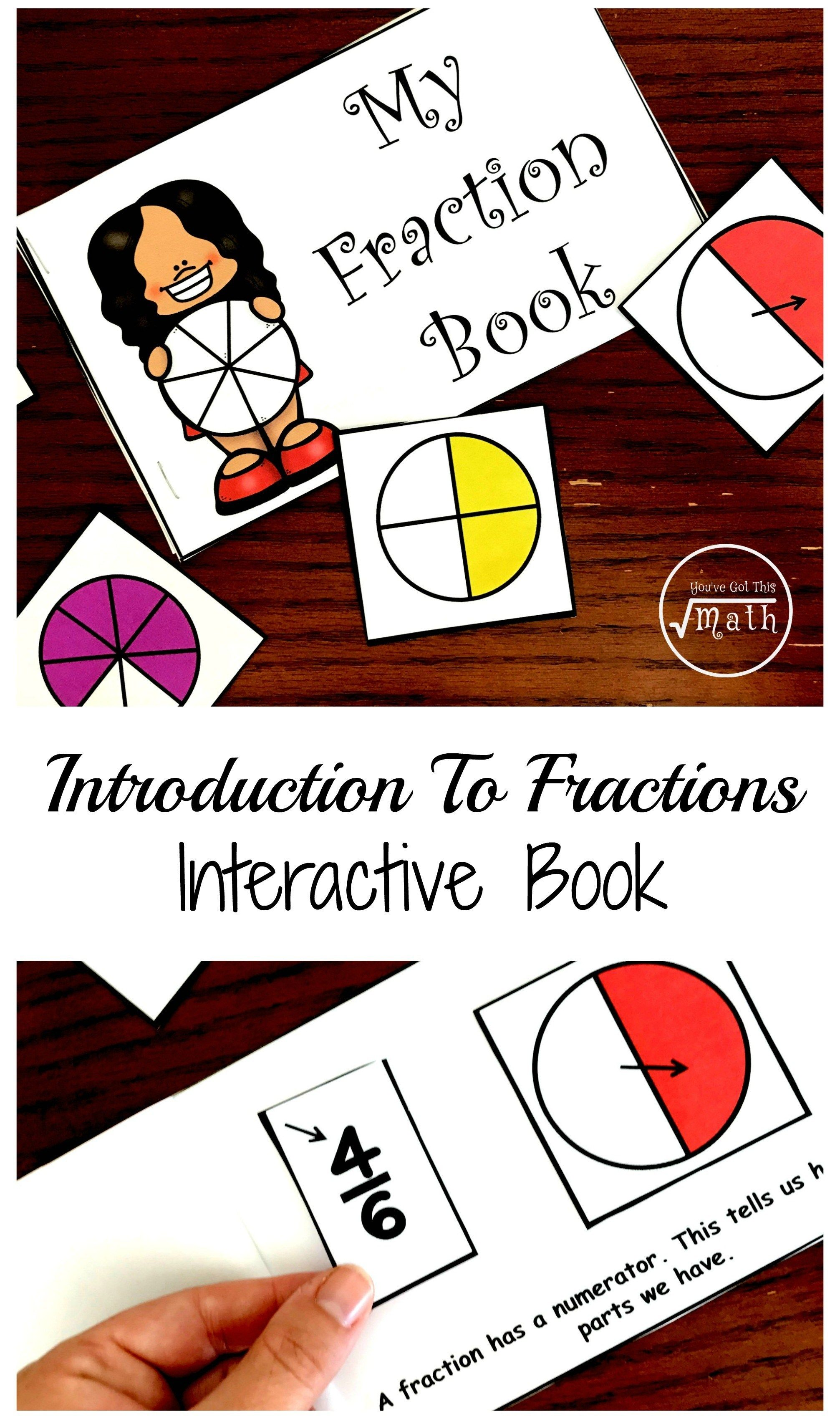 Free Fraction Book Printable to Introduce Fractions