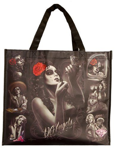 DGA David Gonzales Lowrider Chicano Art Shopping Tote Bag Reusable