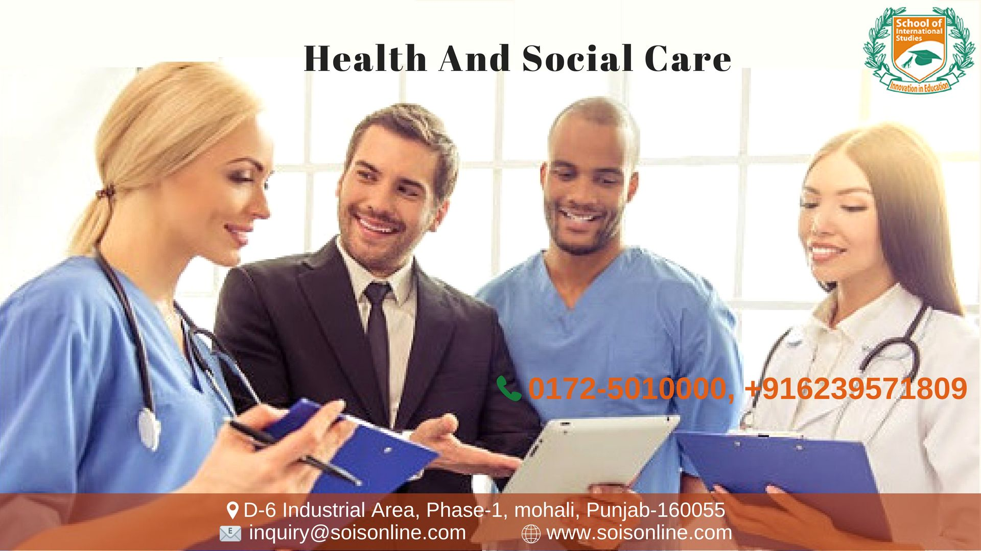 Diploma in Management for Health and Social Care is a 120