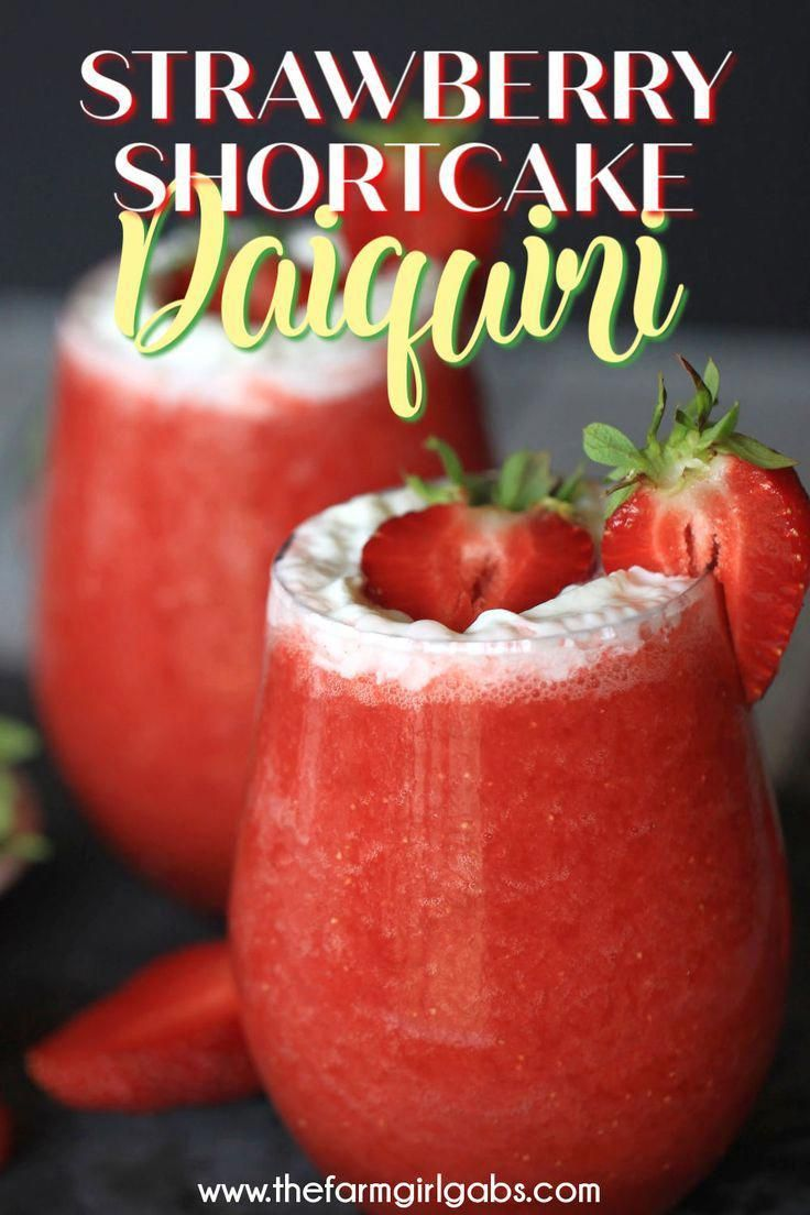 Cheers to Strawberry season With just a few simple ingredients you can make your own Strawberry Shortcake Daiquiris at home Skip the mix and make fresh strawberry daiquir...