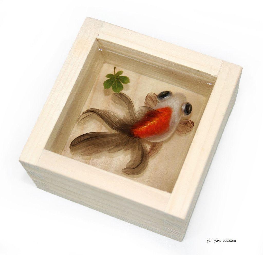 Riusuke Fukahori Akeyume If You Watch A Video On His Resin - Incredible 3d goldfish drawings using resin
