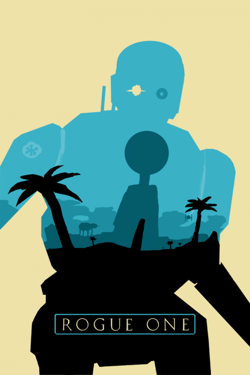 My Favorite Rogue One Robot K 2so As A Silhouette With A Planet Scarif Design Inspired By Olly Star Wars Canvas Art Star Wars Illustration Star Wars Painting