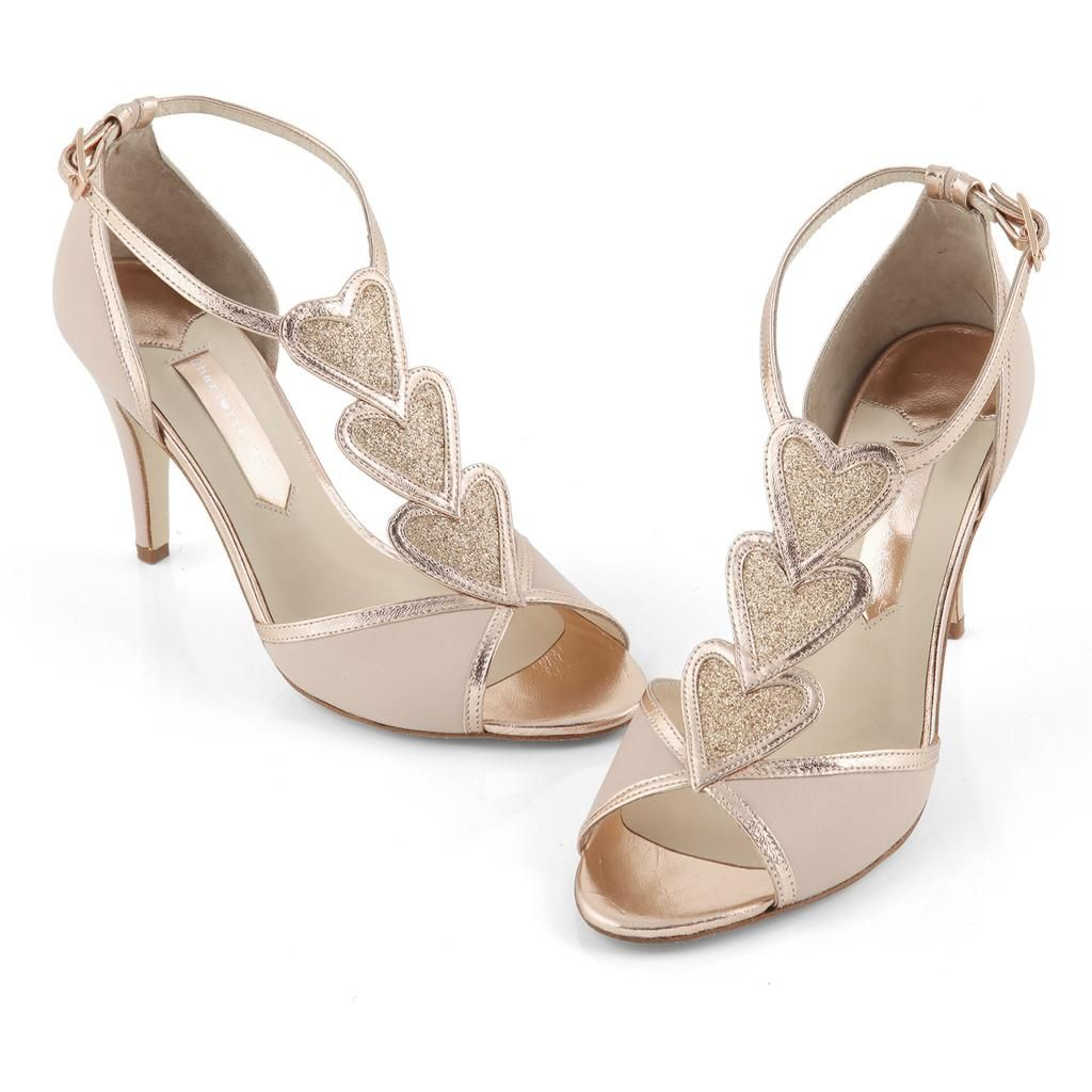 Gold dress shoes for wedding  Blondie Rose  Charlotte Mills   S a p a t o s  d e  n o i v a