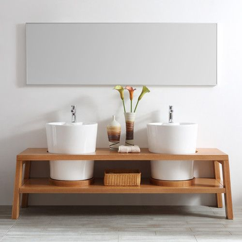 """Found it at Wayfair - Lecce 78"""" Double Vanity Set with Mirror"""