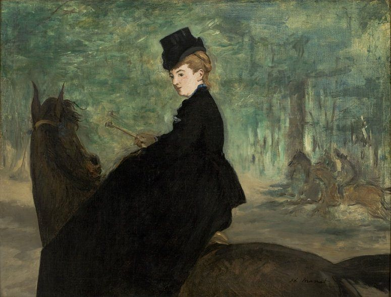 Edouard Manet - The Horsewoman. Portrait of Marie Lefébure