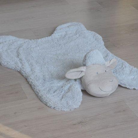 Alfombra oveja en blanco o gris alfombra super suave para la habitaci n del beb o del ni o es - Alfombra oveja ...