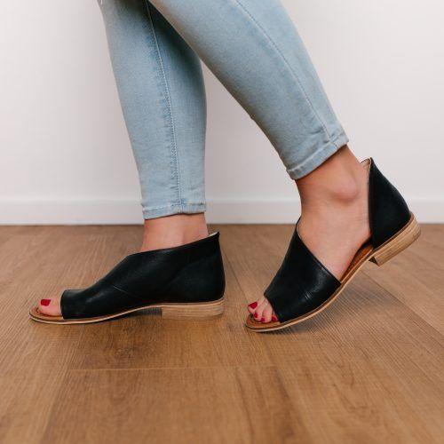Lotus Open Toe Shoe - Black  7f65dbd6d3
