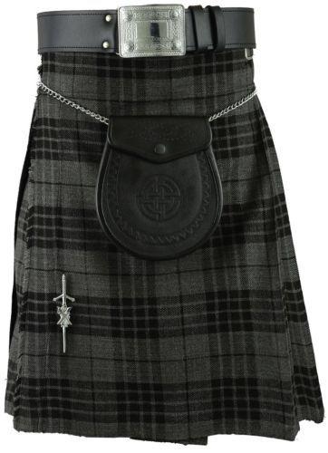Grey Scottish Mens Kilt Tartan Kilts Sporran All sizes | eBay