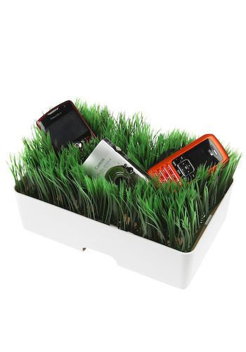 Charging station in grass...