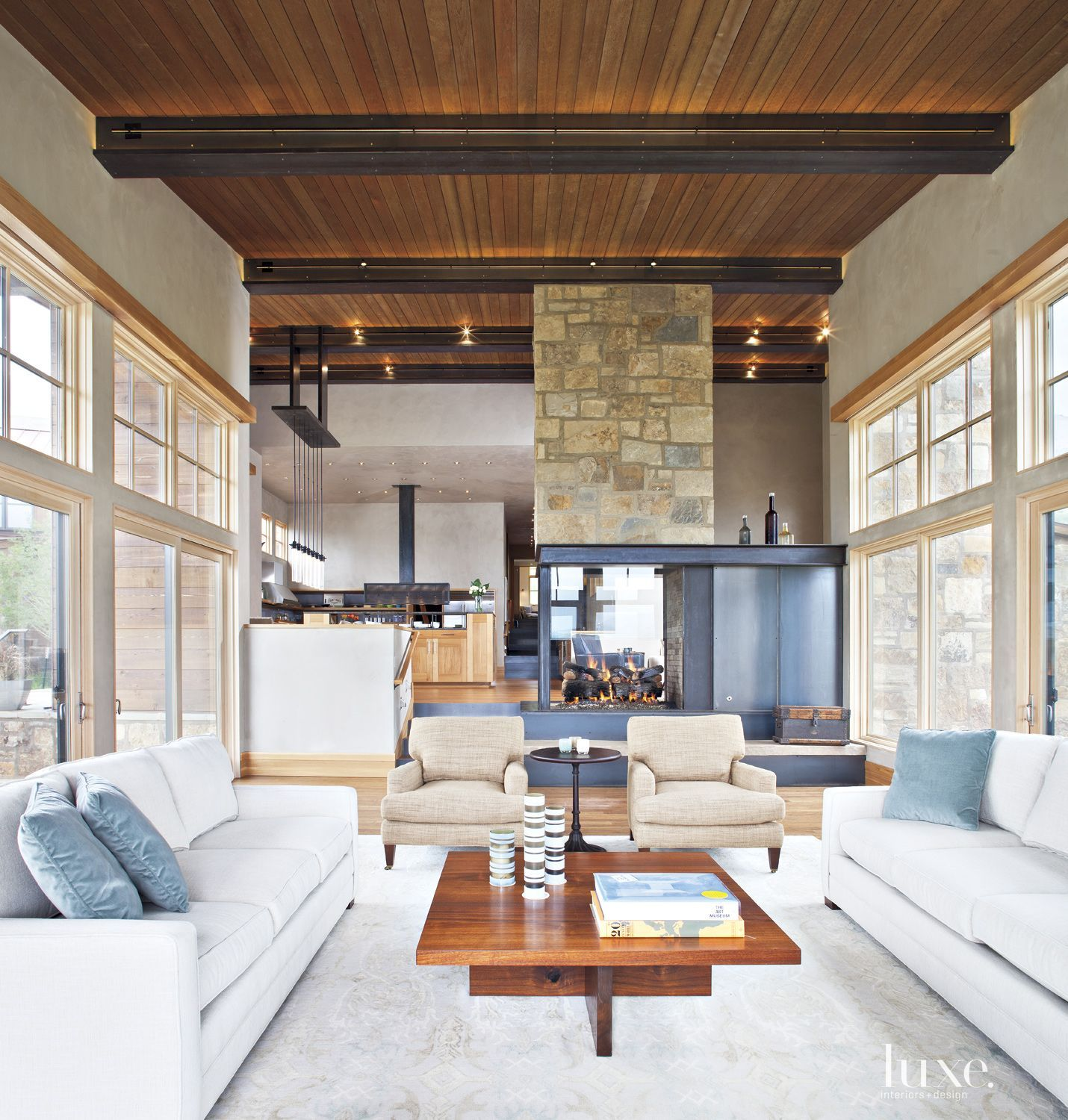 a spanish revival bungalow with dark wood beamed ceilings luxesource luxe magazine neutral living roomsliving room - Dark Wood Living Room 2015