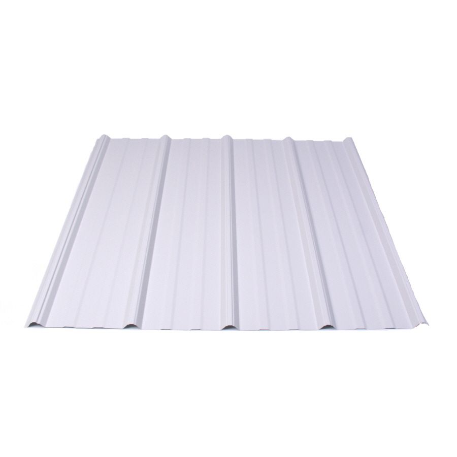 Fabral 5 Rib 3 14 Ft X 8 Ft Ribbed Silver Metal Roof Panel Lowes Com Metal Roof Panels Roof Panels Steel Roof Panels
