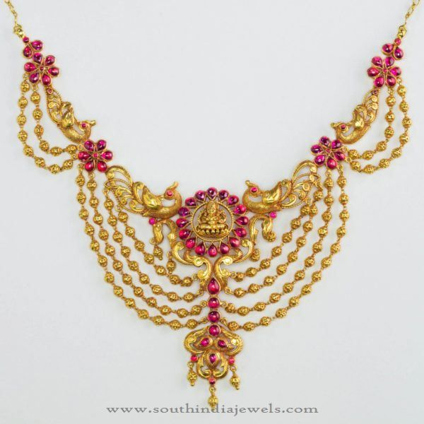 52a2348ed8b27 Gold Antique Necklae from Bhima Jewellers | Necklace Collections ...