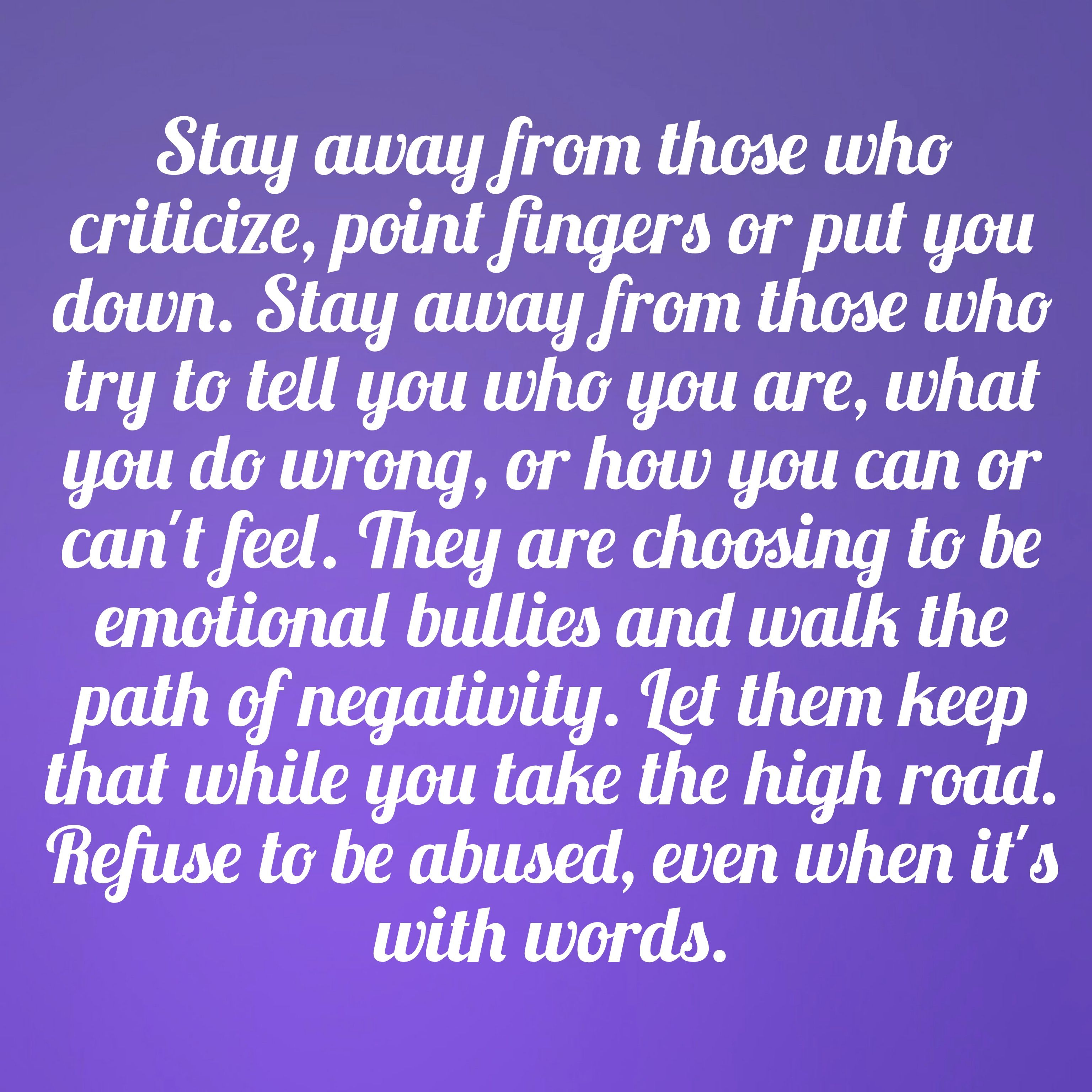 Insulting Rude Insensitive Critical People. People Who Put