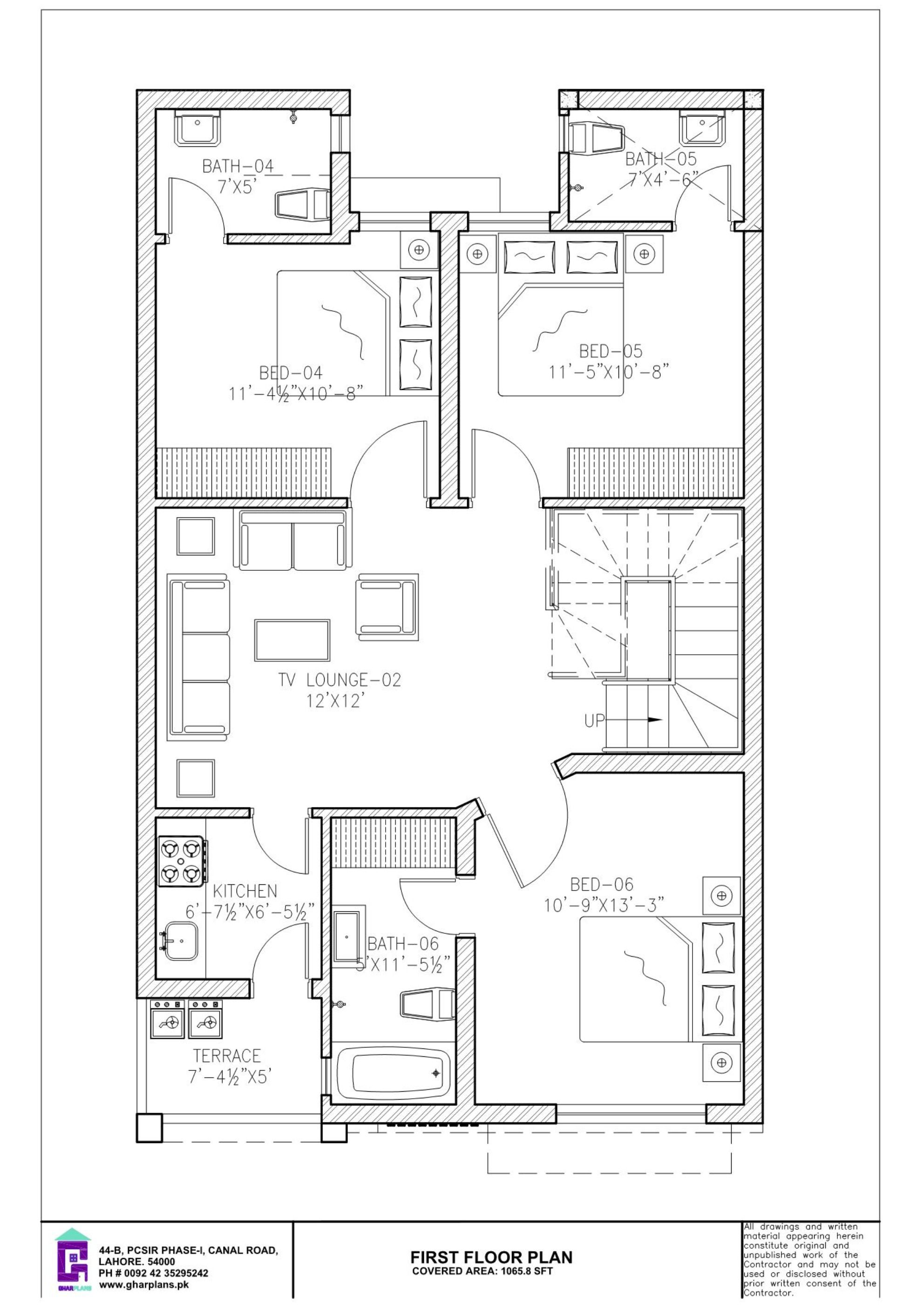6 Bedroom 5 Marla First Floor Plan Floor Plan Layout Indian House Plans 5 Marla House Plan