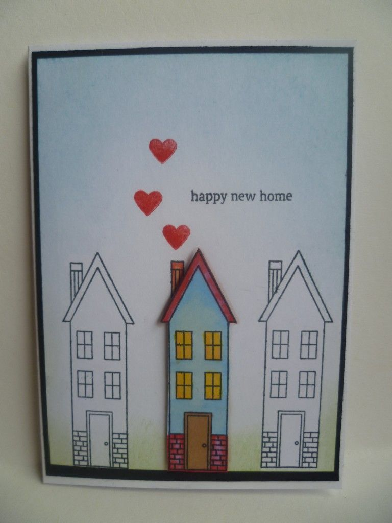 New Home Card Stampin Up Holiday Home New Home Cards Welcome Home Cards Housewarming Card