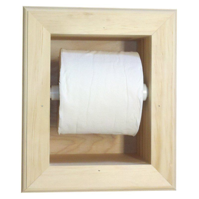 WG Wood Ruby Recessed Mega Toilet Paper Holder - RUBY-16