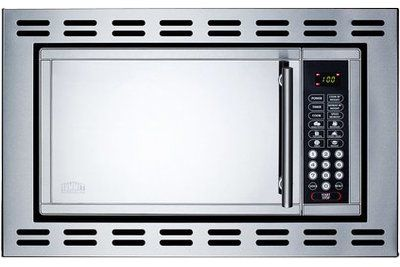 Summit Appliance 22 0 9 Cu Ft Built In Microwave With 4 38 Inch