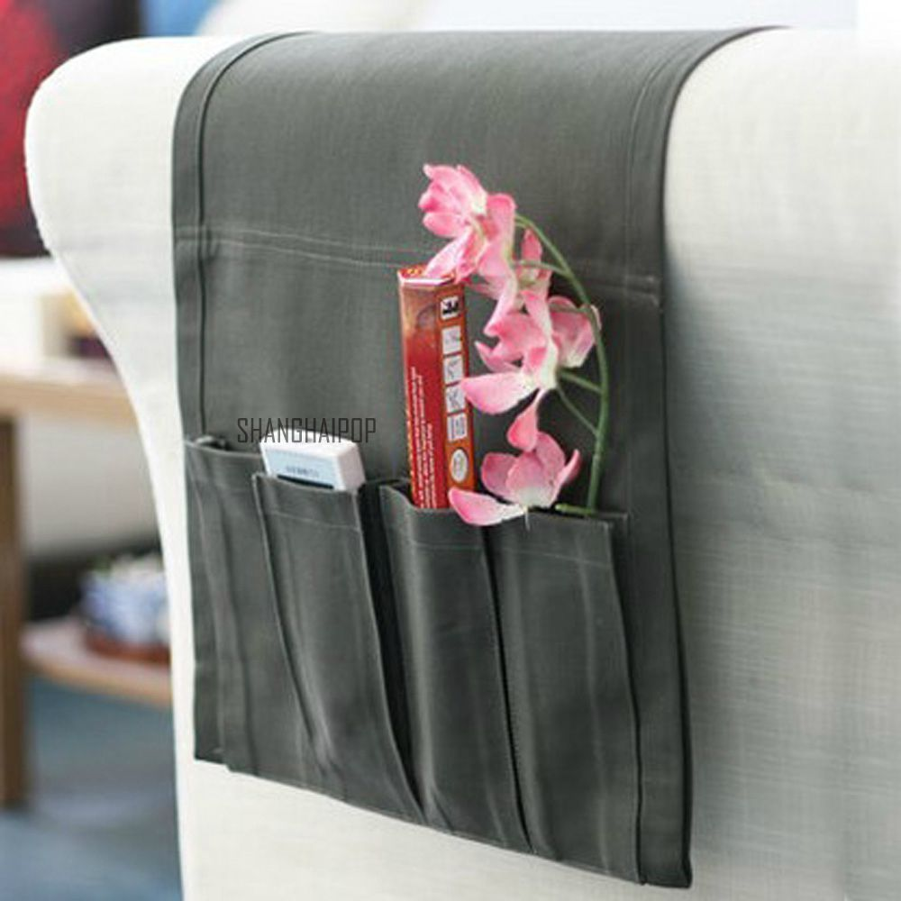 Storage Bag Pocket Remote Control Organizer Holder Chair Couch Settee Sofa Pouch Unbranded