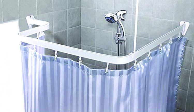 white flexible bathroom shower curtain