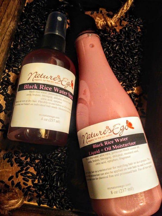Fermented Black Rice Water Spray Black Rice Water Liquid Oil Moisturizer All Hair Types