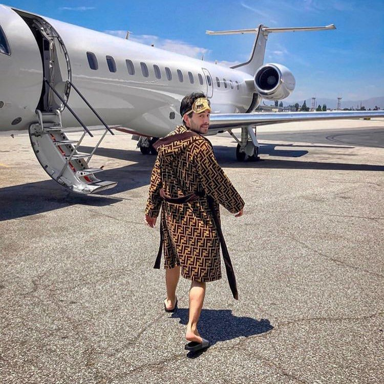 Almost missed my flight..good job no one can judge your outfit choice when you fly private 😏 ✈️ 📸 @followthenap