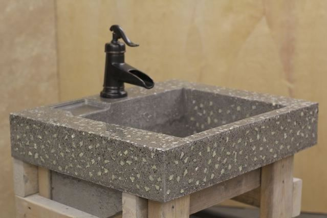 Sink, Concrete, Glow In The Dark Concrete Sinks Ambient Glow Technology Pickering, ON