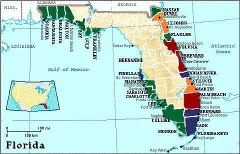 florida map of shark attacks