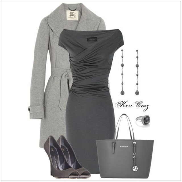 CHATA'S DAILY TIP: This gorgeous all-over-grey ensemble works so well because of the different grey tones. Create the element of interest by wearing lighter and darker shades of the same colour, not the same colour from head to toe. COPY CREDIT: Chata Romano Image Consultant, Erika Swanepoel http://chataromano.com/consultant/erika-swanepoel/ IMAGE CREDIT: Pinterest #chataromano #imageconsultant #colour #style #fashion