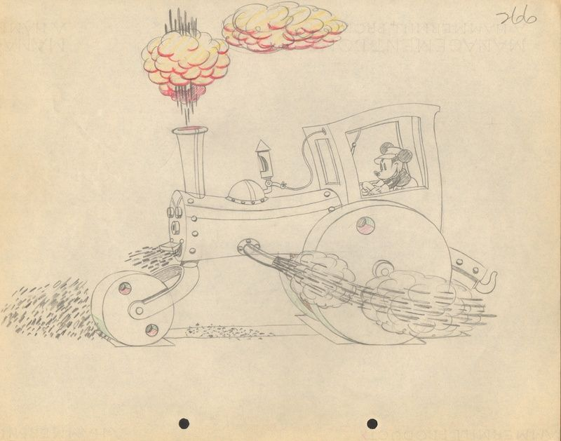 Original drawings from various Mickey Mouse cartoons.