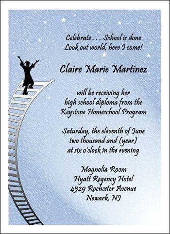 Homeschooling Ladder Graduate Announcement graduation ideas - graduation program