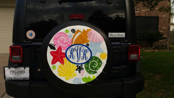 Custom Painted Spare Tire Cover By Kateskraftsandgifts On Etsy With Images Tire Cover Spare Tire Covers Spare Tire