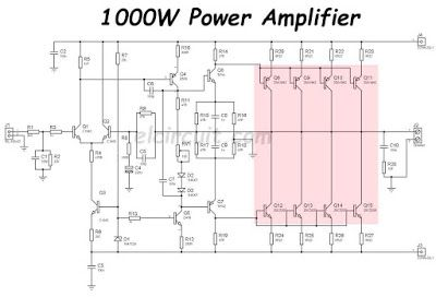 1000w Power Amplifier 2sc5200 2sa1943 Elektronika Pinterest