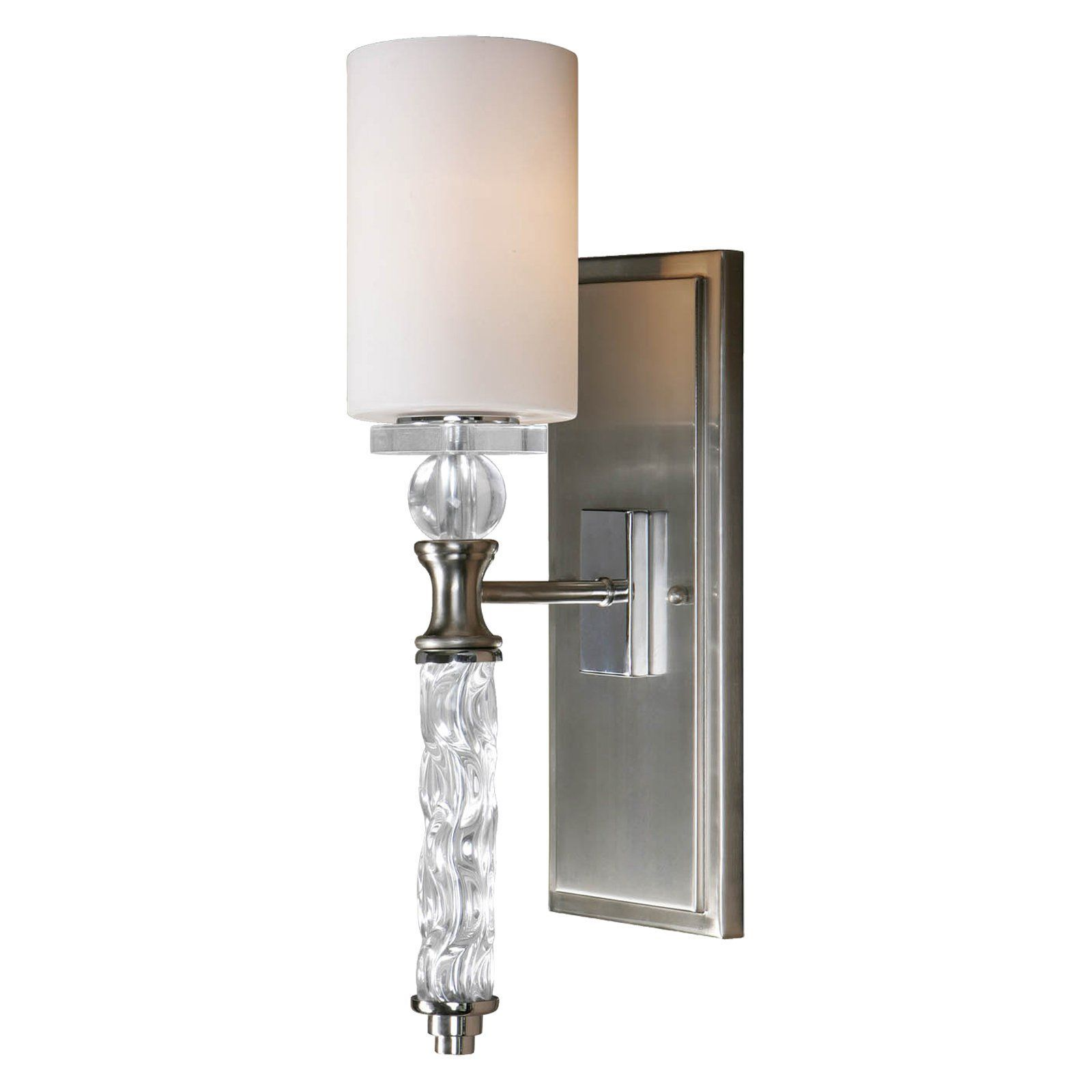Uttermost 22486 Campania Wall Sconce - 5.25W in. Brushed Nickel Plated   from hayneedle.com