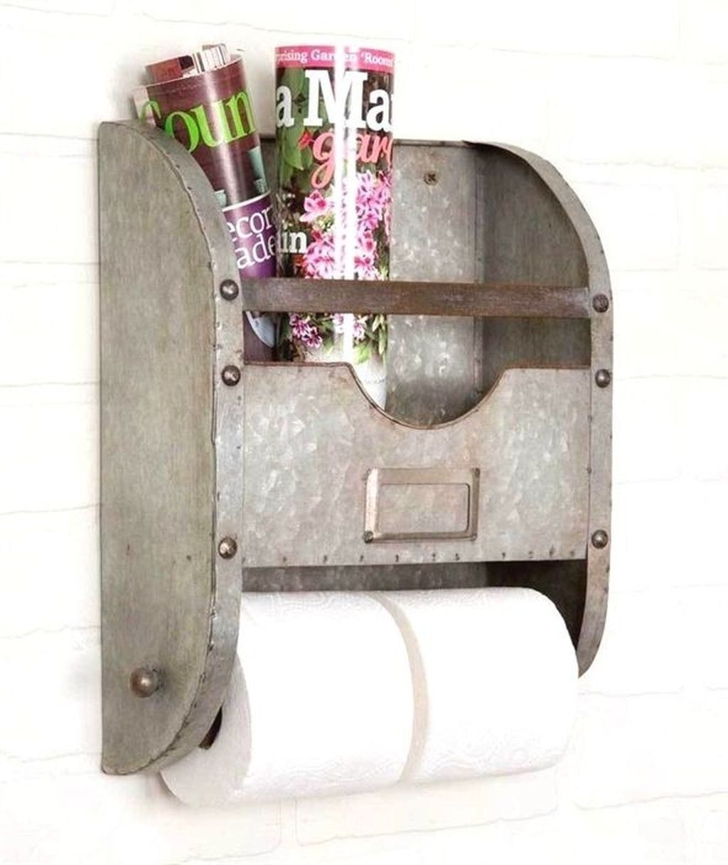 20 Awesome Bathroom Makeover Ideas On A Budget Coodecor Diy Toilet Paper Holder Rustic Toilet Paper Holders Toilet Paper Holder Industrial