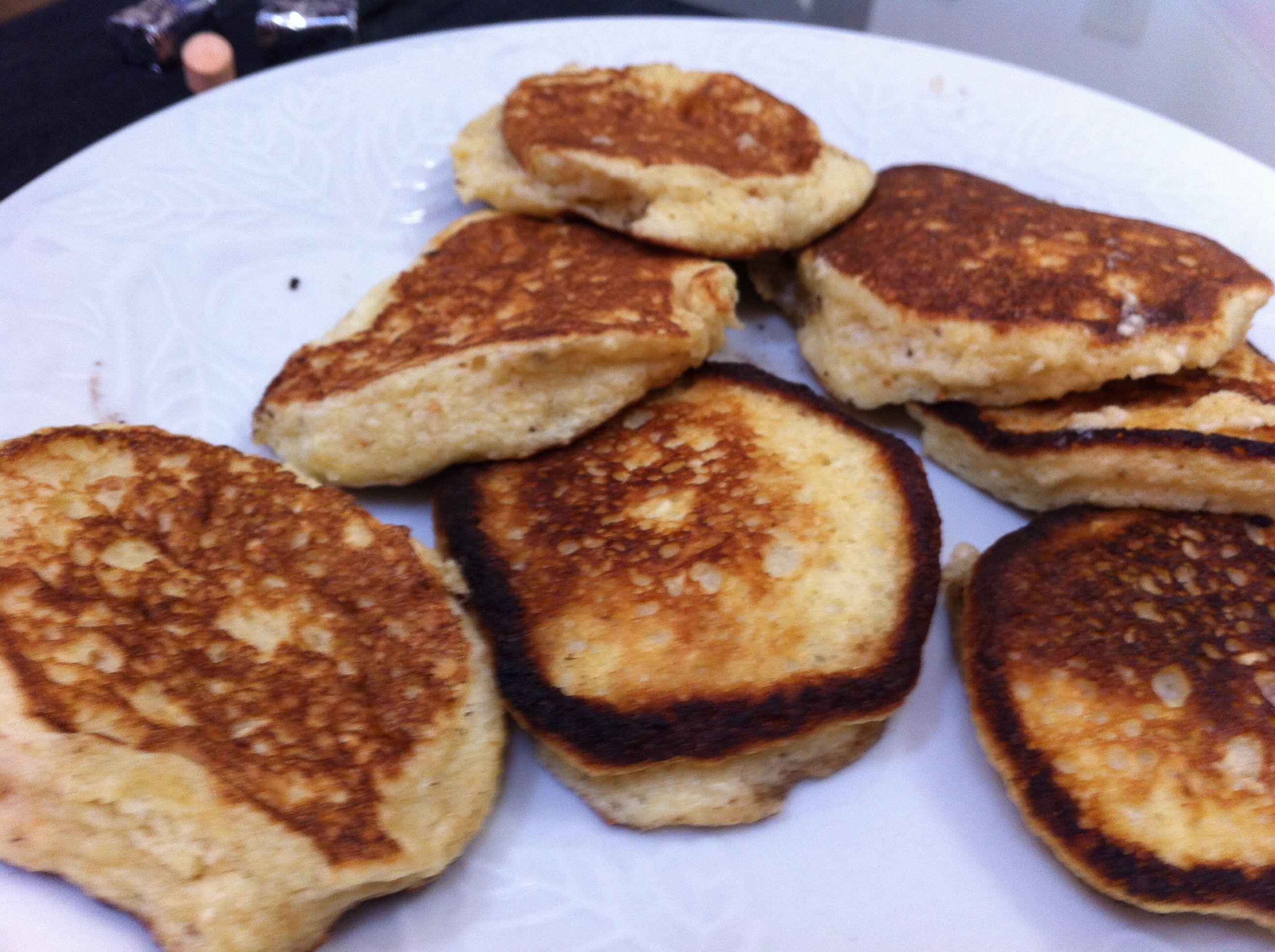 Matzo meal pancakes!