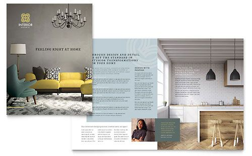 Interior Design Brochure Template Corporate design Pinterest - interior design brochure template