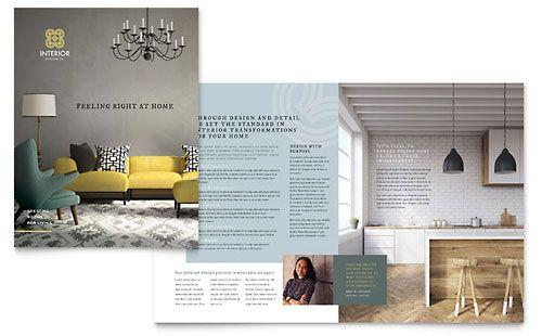 Interior Design Brochure Template Corporate design Pinterest - interior design brochure template