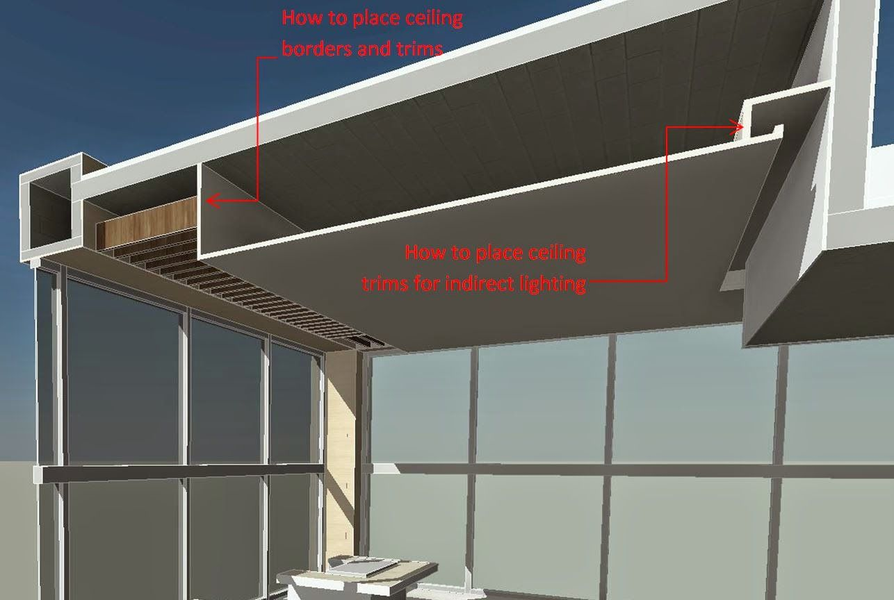 Borders And Trims For Ceilings In Revit Ceiling Ceiling System Ceiling Design
