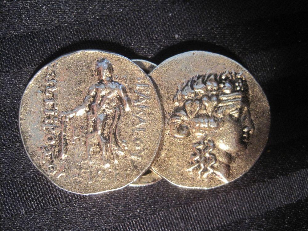 Vintage Alva Studios Museum Replicas Gold Greek Coins Scarf Clip Fur Clip Money http://r.ebay.com/IJSmqm