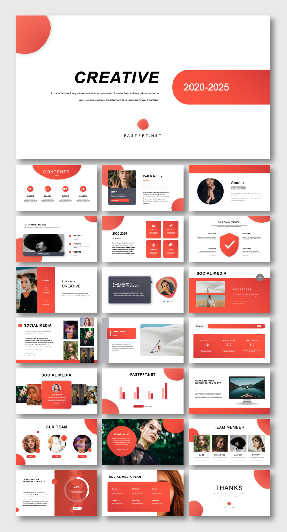 2 in 1 Business Plan & Report Presentation Template – Original and high quality PowerPoint Templates download