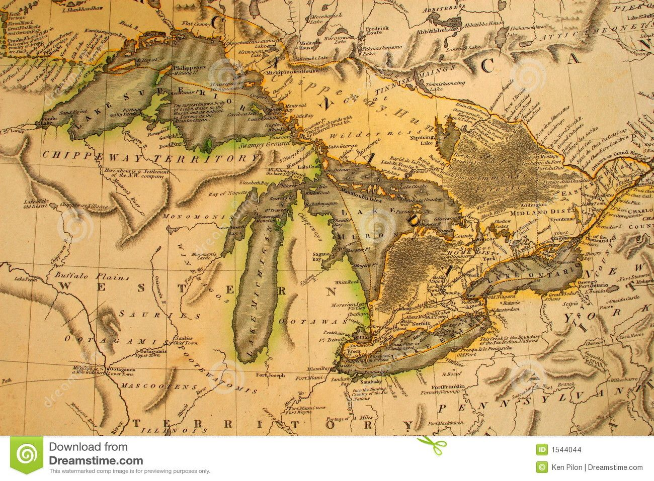 Awesome Vintage Michigan Maps Images Art Pinterest Lakes - Michigan lakes map